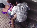 Flagra real de casal dando rapidinha escondidinhos