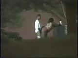 Flagra real de casal transando a noite no parque