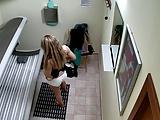 Câmeras escondidas na sala de bronzeamento